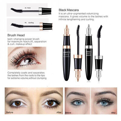Mascara de pestañas Eye Lash Extension La fibra de seda Black Cosmetic Brush