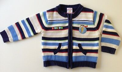 Humphrey's Corner COTTON striped knitted baby jacket - size 0