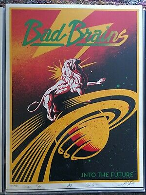 Shepard Fairey Obey Giant BAD BRAINS Signed Numbered Screen Print