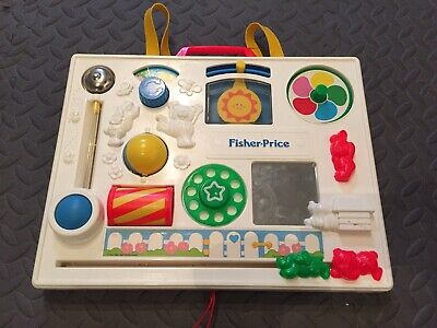Vintage 1990 Fisher Price Activity Center Busy Box Crib Toy 1135
