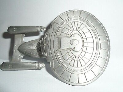 Star Trek Rawcliffe Pewter USS Enterprise D Statue Model Not Selangor