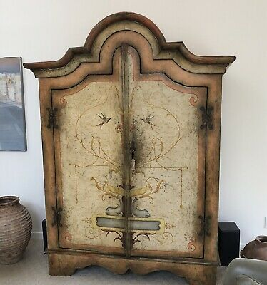 Brazil Baroque French Country Armoire Made Of Antique Hardwoods