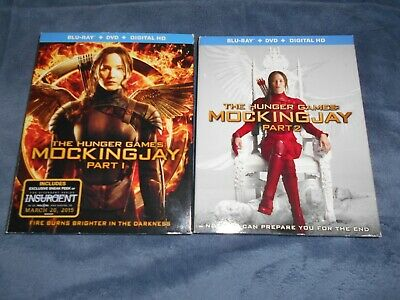 The Hunger Games Mockingjay Part 1 and 2 Blu-Ray