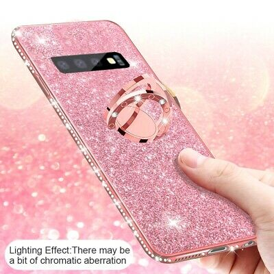 For Samsung Galaxy S10 Case S10 Plus S10e Bling Diamond Ring Holder Stand Cover