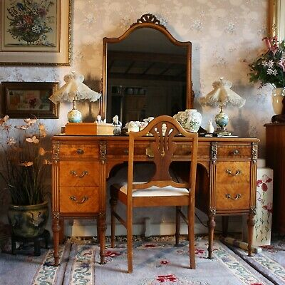 Sligh Furniture Co 6 Pc French Louis Xvi Bedroom Suite W/ Hand Painted Flowers