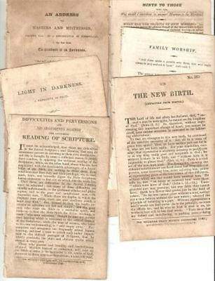 Religious Tract Society / GROUP OF SEVEN 7 TRACTS First Edition 1831