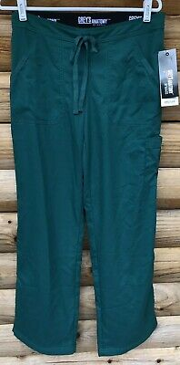344fb8c2bd6 Grey's Anatomy 4245 4-Pocket Elastic Back Scrub Pants Womens Small Hunter  Green