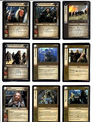 LORD OF THE RINGS LoTR BATTLE OF HELM'S DEEP COMPLETE TRADING CARD SET *LOT*