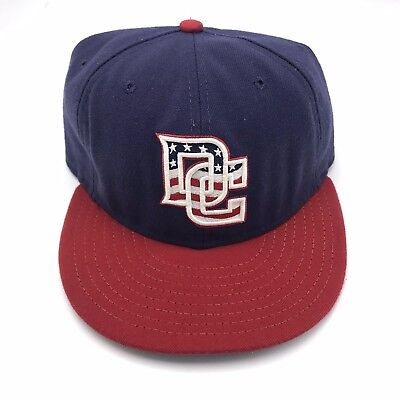1c42904fb94 New Era MLB Washington Nationals DC Alt 59FIFTY Fitted Cap Hat Size 7 1 4