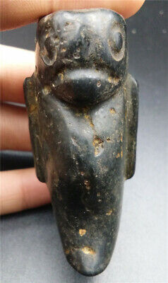 Old Chinese Hongshan Culture Jade stone Hand-carved Ancient animals Statues