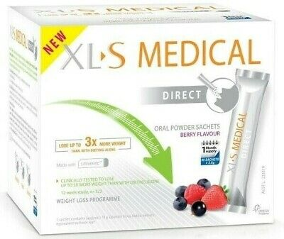 NEW XLS Medical Direct Fat Binder Sachets Berry Flavour TOP VALUE TRUSTED SELLER