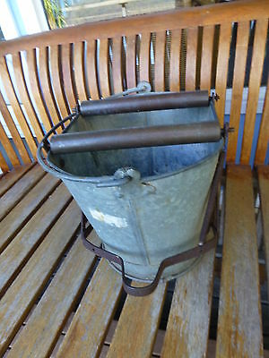 Antique Vintage Pedal Wringer Mop Bucket Galvanised home decor vase pot storage