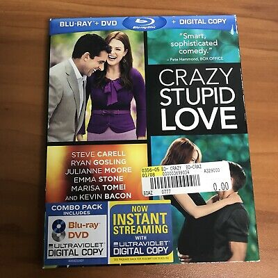 Crazy Stupid Love w/ Slipcover (Blu-ray/DVD, 2011, 2-Disc Set)