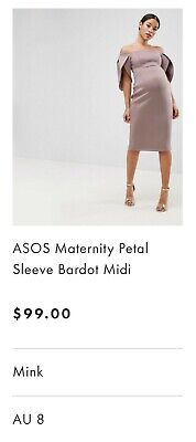 ASOS Maternity Dress, Mink,  size 8
