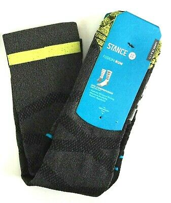 Men's Stance Socks - Fusion Run OTC Compression Tarmac  Size 9-11 Msrp $36 Nwt