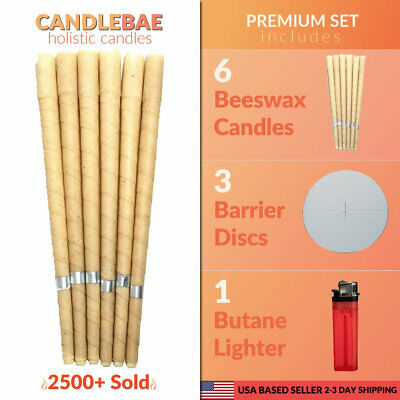 6 Scented Beeswax Candles Cleaning Cones Hollow Candle Wax Ear ring Kit