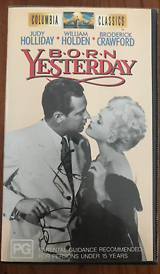 Born Yesterday William Holden Judy Holiday Original As New Pal Vhs Video