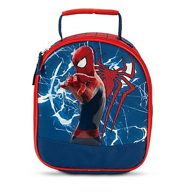 Disney Store Authentic Spiderman Super Hero Lunch Box Tote Bag Boys Marvel Gift