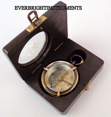 Marine Pocket Compass~Vintage Victorian Dollond London Compass SERIAL NO 2860