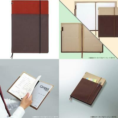5.8 X 8.3 Kokuyo Systemic Refillable Notebook Cover japan import 28 Lines X 50 Sheets A5 Black Cover Twin Ring Notebook with Edge Title - Normal Rule