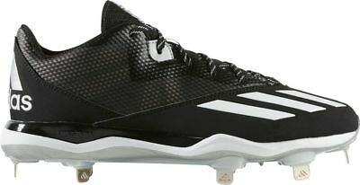 sports shoes fc1d3 773ee NEW Mens ADIDAS DUAL THREAT 2 sz 12 BLACK White Baseball Shoes METAL Cleats