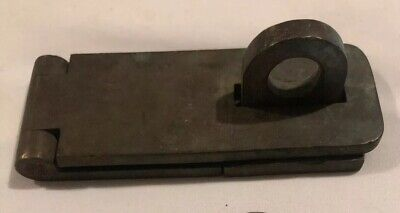 Rare Antique Yale & T Latch & Plate Solid Brass Thick Heavy!