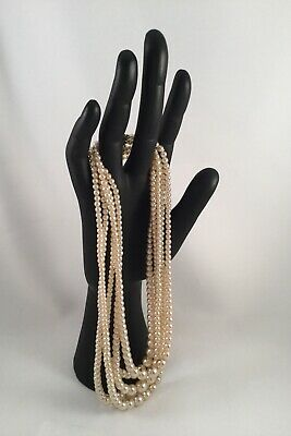 Vintage Jewellery Pearl Necklace Antique Rockabilly Swing Pinup Dress Jewelry