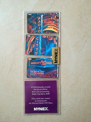 TK Telefonkarte/Phonecard USA  Folder set of 3 Nynex change card