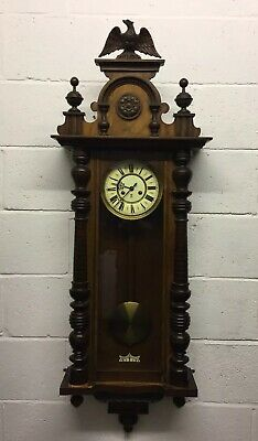 Antique Large Victorian Gustav Becker Vienna Wall Clock  ~Delivery Available~