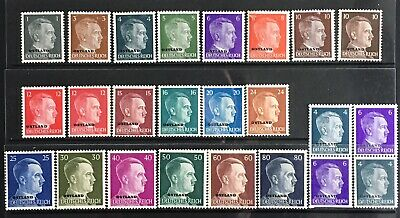 Germany 1941-1943 Occupied Ostland O/P on Hitler issues MNH/MLH/MNG
