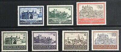 Germany: General Government 1941-1944 Castles & Buildings MLH/MNG