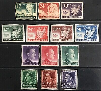 Germany: General Government 1940-1944 issues MNH/MLH