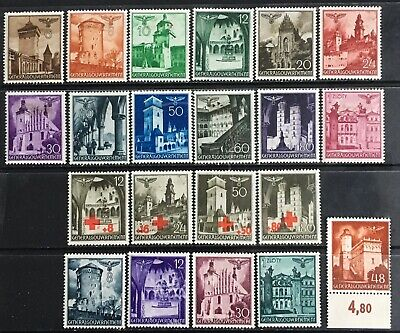 Germany: General Government 1940-1941 Castles & Buildings MLH