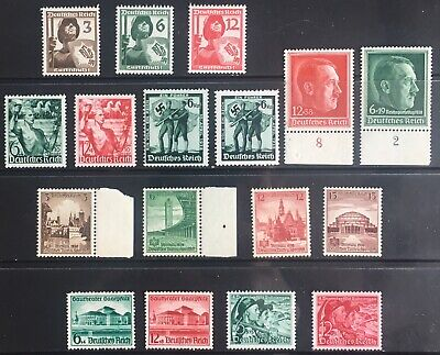 Germany Third Reich 1937-1938 issues MNH/MLH