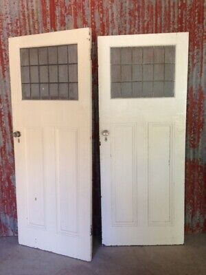 House Lot of 6 old Original LEADLIGHT DOOR DOUBLE DOORS window stained glass DIY
