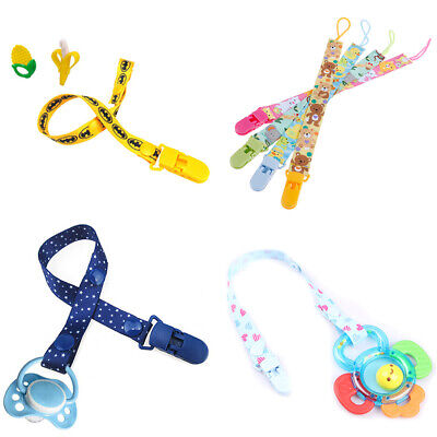 1Pc Newborn Baby Pacifier Clips Chain Strap Soother Dummy Nipple Holder JD