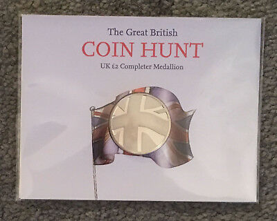 £2 Completer Medallion Royal Mint 2013 Great British Coin Hunt Brand New Sealed