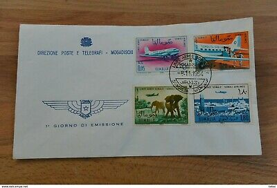 Somalia Mogadiscio FDC 1964 Linee Aeree Somale - Inaugration of Somali Airlines