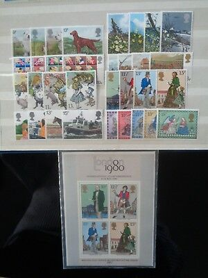 Great Britain 1979 Commemorative Stamps Year Set Mint Mnh 8 Sets 33 Stamps & M/s