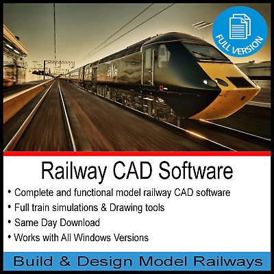 Railway Cad Software Design & Build Model Track Layout Plans Hornby Oo Guage