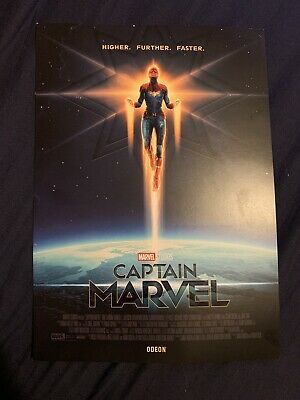 Captain Marvel 2019 Odeon Movie Poster A4