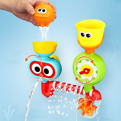 Baby Bath Toy - Waterfall Water Station with Two Stackable Cups Toy for Kids