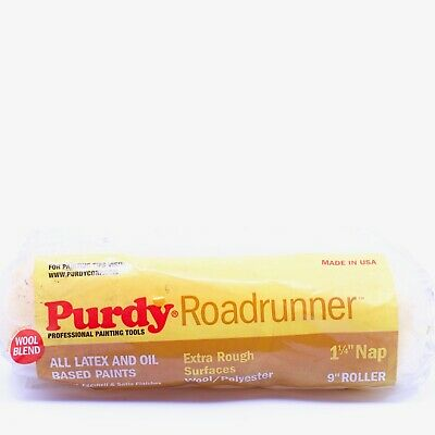 Purdy 144654097 Roadrunner 50/50 Lambswool Polyester Blend Roller Cove 9 inch
