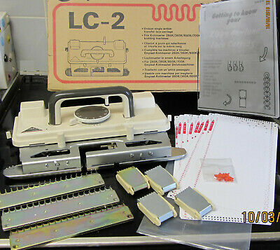Knitmaster Lace Carriage Lc-2 700/600 360/260 Machines +Instructions, Cards Etc