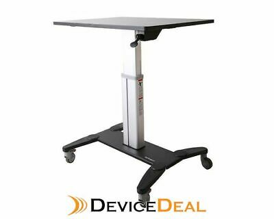 """StarTech Mobile Sit Stand Workstation with 31.5"""" Work Surface"""