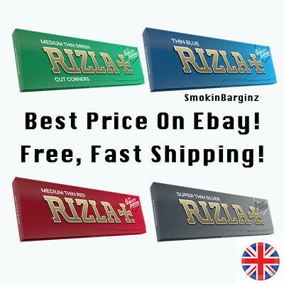 Rizla Green Cigarette Smoking Rolling Papers 100% Genuine Multiple Packs