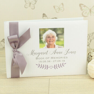 Personalised Photo Funeral Condolence Memory Guest Book