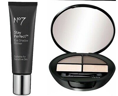 Boots No7 Stay Perfect Eye Shadow Primer 10ml & Beautiful Eyebrow Kit New Boxed