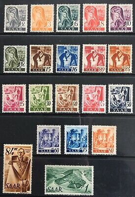 Germany - Saar 1947 Professions & Views over Saarland MNH
