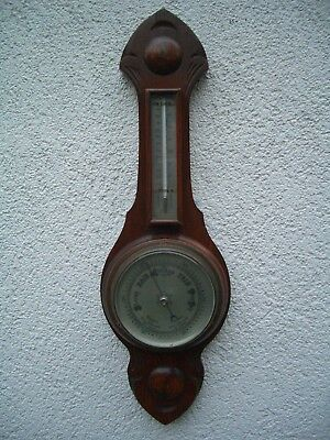 altes großes Barometer mit Thermometer aus England